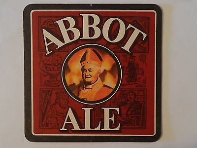 Beer Pub Coaster: Greene King Abbot Ale <> Not For Novices, Just Like Abbot Ale