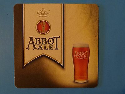 Beer Pub Coaster <> Greene King Abbot Ale <> When You'e Ready You'll Find It!