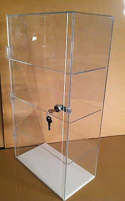 Acrylic  Display Case 12 x 7 x 22.5 Countertop Locking (different shelf spacing)