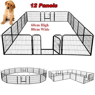 "32"" 8 Panel 80x80CM Pet Playpen Portable Cage Fence Enclosure Dog Puppy Rabbit"