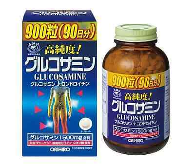 ORIHIRO High Purity Glucosamine and Chondroitin 900tab 90days for Bones Joints