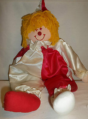 Russ Berrie & Co Flippo Clown Red Ivory Satin Suit Collectors Liquidation Sale