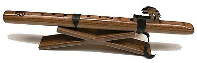 Single Flute Stand for Native American Flute, Collapsible, Solid Walnut