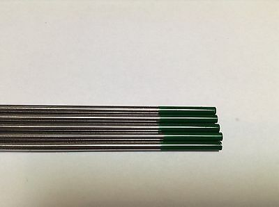 """5 pcs of 3/32""""* 7"""",Green WP,Pure Tungsten Welding & TIG Electrodes ."""