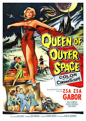 Queen Of Outer Space (1958) - A1/A2 Poster **BUY ANY 2 AND GET 1 FREE OFFER**