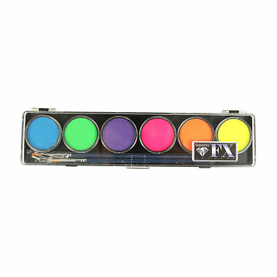 Diamond FX 6 Colour Face Paint Palette - Neon!