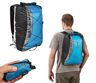 Sea To Summit Ultra Sil Dry Day Pack Blue Lightweight Waterproof Travel Rucksack