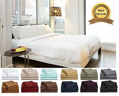 New Luxury Egyptian Cotton Duvet Cover Sets Pillow Cases Fitted Sheet All Sizes