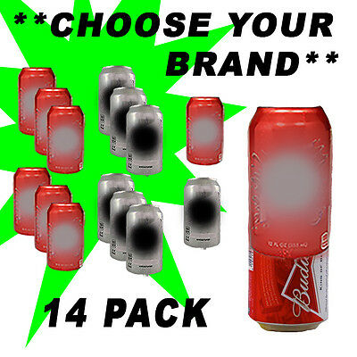 14 Pack Of Hide A Beer Can Camo Wrap Sleeves Disguise Golf Covers Soda Tailgate