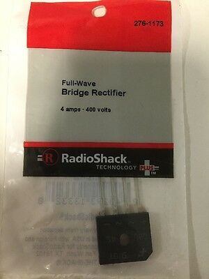 Full Wave Bridge Rectifier #276-1173 By RadioShack