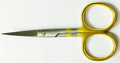 "Fly Tying Scissors 4.5"" All-Purpose Curved Blade Hair Scissors Free Shipping"