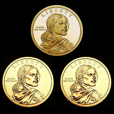 2010 P+D+S Sacagawea Native American Set ~ Proof + BU PD from U.S. Mint Rolls
