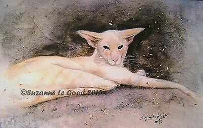 Ltd Edition Creampoint Siamese Print From Original Painting By Suzanne Le Good