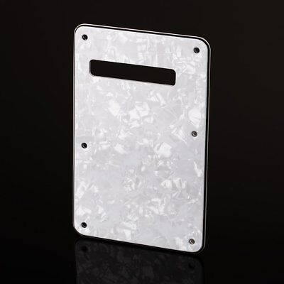 White 3ply  Pearl Back Plate Tremolo Trem Cover for Fender Strat Stratocaster ST