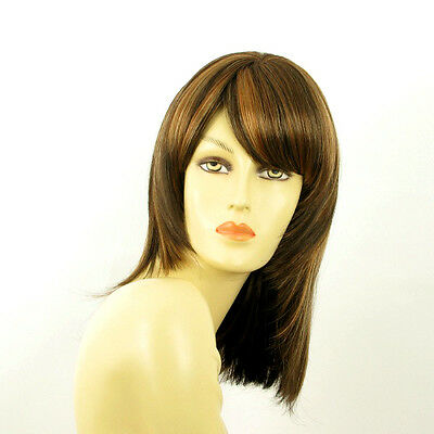 mid length wig for women chocolate copper wick clear ref: ODELIA 627c PERUK