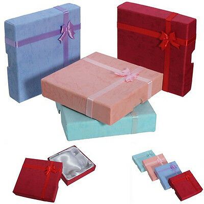 Square Bowknot Jewelry Necklace Bracelet Bangle Present Gift Boxes Case Package