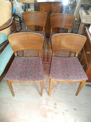 retro dining chairs art deco danish design 1950s 1960s set of 4 dining chairs