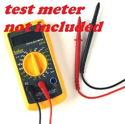 test meter leads - digital  Multimeters leads - replacement part - red and black