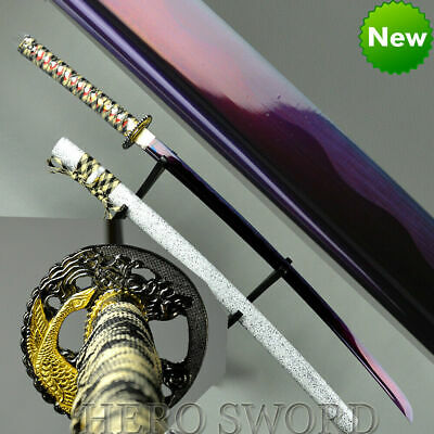 T1060 High Carbon Steel Japanese Samurai Sword Handmade Shirasaya Ninja