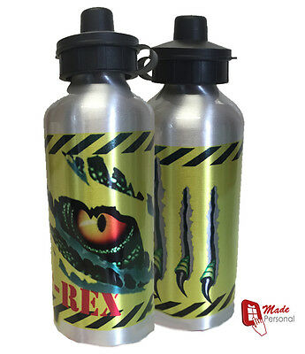 Personalised DINOSAUR ESCAPE  Kids/Drinks/Childrens  Water Bottle - Any Name