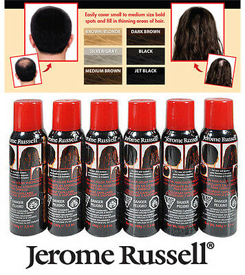Jerome Russell Spray on Hair Color Thickener Spray 6 - Colors To choose from