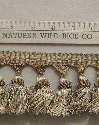 """Fancy Tassel Trim Shades Gold Brown Taupe Cream 150"""" Long Sewing Crafts"""