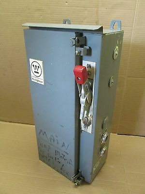 Westinghouse A206 A/200 COMBO STARTER SIZE 1 3 PHASE 3R A200M1CAC EA3040 40 AMP