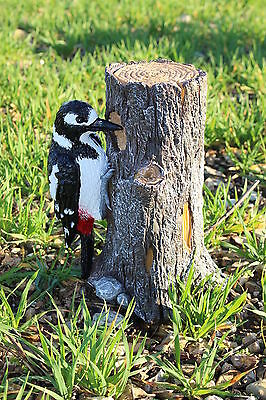 Large Spotted Woodpecker Garden Ornament Suitable For Patio Or Conservatory -New