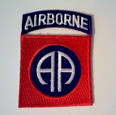 "82nd Airborne Patch and Airborne Tab together     3"" x 2"""