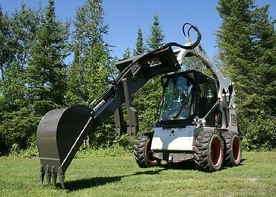 Skid Steer GrappleHoe Q860 Backhoe Attachment, for Bobcat Cat John Deere + more!