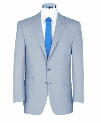 SCOTT Linen Blend Pale Blue Suit Jacket In Size 46 to 60 Inches, S/R/L