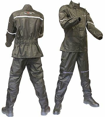 WATERPROOF Jacket & Trousers / Pants for Motorcycle Over SUIT RAIN Two 2 Piece