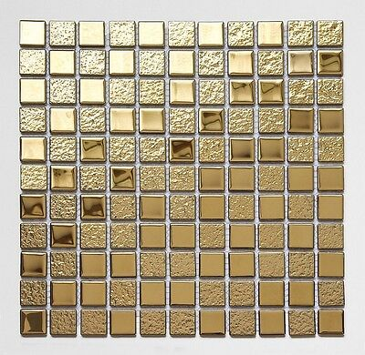 LUXURY GLASS MOSAIC TILES CRYSTAL GOLD A116 Bathroom Kitchen Backsplash