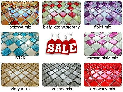 Luxury Glass Mosaic Tiles Glitter Purple Gold Black Silver Red White Brown