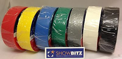 PVC electrical tape 19mm 20m Colours Tickitape Red blue green or yellow