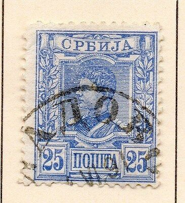 Serbia 1890 Early Issue Fine Used 25p. 147529