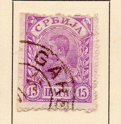 Serbia 1894 Early Issue Fine Used 15p. 147533