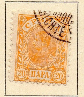 Serbia 1894 Early Issue Fine Used 20p. 147534