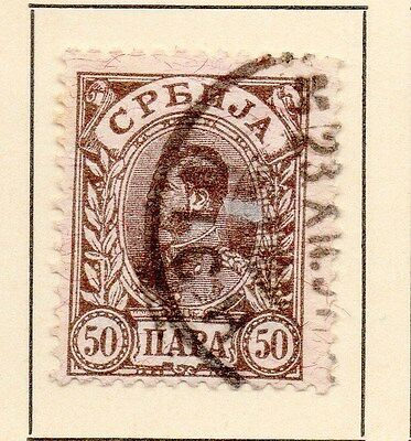 Serbia 1894 Early Issue Fine Used 50p. 147536