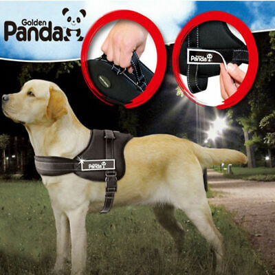PANDA Nylon Large Dog Harness Collar Vest For German Shepherd Doberman Pitbull