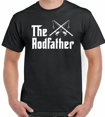 The Rodfather - Mens Funny Fishing T-Shirt Rod Reel Fisherman Tackle Carp Trout