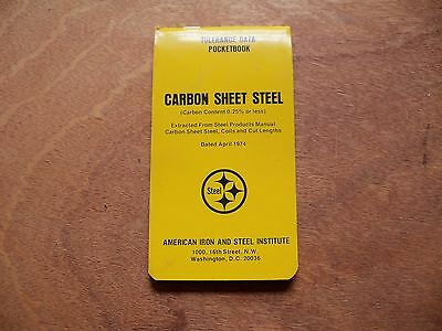 Vintage American Iron And Steel Institute Carbon Sheet Steel