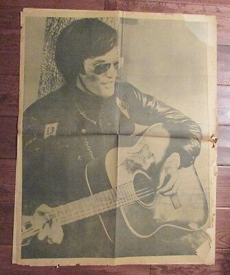 1960's Chicago's American Picture Poster Parade PETER FONDA w/ Guitar GD- 24x30