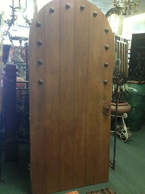 Rare Vintage Arched Spanish Revival Door