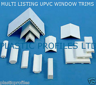 PLASTIC UPVC WINDOW DOOR TRIM 90° ANGLES BEAD VARIOUS SIZES SHAPES 5m - 2 X 2.5m