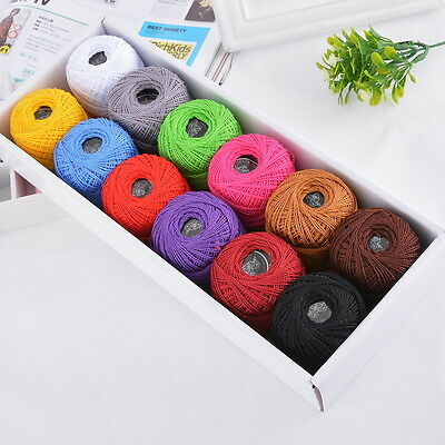 1Set 12pcs Hot Colours Embroidery Threads Sewing Cotton Floss Knitting Crochet
