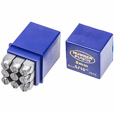 Number punches Set 8 mm Impact figures Numbers Metal beat up one-impact stamp