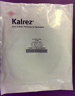 NEW Dupont Kalrez AS-568A O-RING K# 384 Compound: 4079 w/ Cert. of Conformance