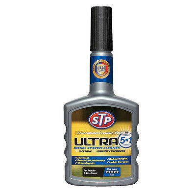 STP Ultra 5in1 DIESEL Injector Fuel System Cleaner Treatment Power Booster 400ml
