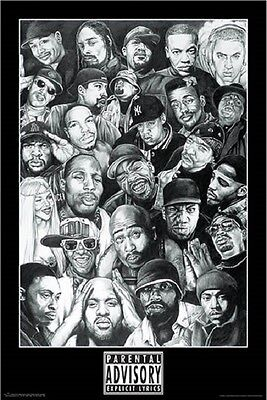 RAP GODS MUSIC POSTER (61x91cm) EMINEM SNOOP DRE HIPHOP NEW LICENSED